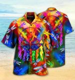 Felacia [Hawaii Shirt] Colorful Dragonflya-ZX0723