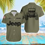 Felacia [Hawaii Shirt] Personalized Name Simple Jeep Olive Unisex -ZX1859