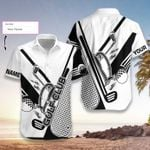 Felacia [Hawaii Shirt] Personalized Golf Club's Name Black and White-ZX3015