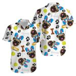 Felacia [Hawaii Shirt] Easter Pug Funny Puppy Bunny happy easter day Aloha -ZX3240