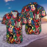 Felacia [Hawaii Shirt] Amazing Colorful Art Love Guitar Unisex -ZX1811