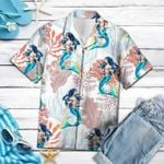 Felacia [Hawaii Shirt] Vintage Mermaid Hawaiian Aloha Shirts-ZX0706
