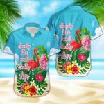 Felacia [Hawaii Shirt] Flamingo Sandy Joe And Salty Lips #2501DH-ZX2741