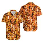 Felacia [Hawaii Shirt] Funny Bigfoot Orange Camo Hawaiian Aloha Shirts-ZX1191