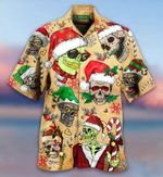 Felacia [Hawaii Shirt] Smile Skull Christmas-ZX0780