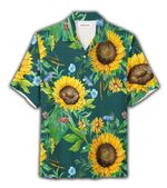 Felacia [Hawaii Shirt] Sunflower Floral Tropical Hawaiian Aloha Shirts-ZX0619
