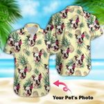 Felacia [Hawaii Shirt] Personalized Dog Face Pinapple With Your Pet's Photo #102DH-ZX3174