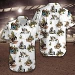 Felacia [Hawaii Shirt] Rodeo Cowboy White Hawaiian Shirt #040521H-ZX0607