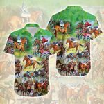 Felacia [Hawaii Shirt] The Horse Race Is Beautiful Picture -ZX1743