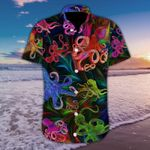 Felacia [Hawaii Shirt] Colorful Octopus Tropical Full Printing #179H-ZX2215