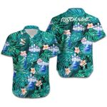 Felacia [Hawaii Shirt] Custom Name Tropical Bowling Blue Hawaiian Aloha Shirts-ZX1819