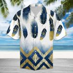 Felacia [Hawaii Shirt] Native American Golden Feather Tropical Hawaiian Aloha Shirts-ZX1885