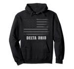 American Flag Delta, Ohio USA Patriotic Souvenir Pullover Hoodie, T Shirt, Sweatshirt
