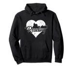 Retro Reading Pennsylvania Skyline Heart Distressed Pullover Hoodie, T Shirt, Sweatshirt