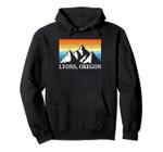 Vintage Lyons, Oregon Mountain Hiking Souvenir Print Pullover Hoodie, T Shirt, Sweatshirt