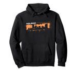 Toledo Ohio Skyline Retro Grafitti Style Pullover Hoodie, T Shirt, Sweatshirt