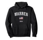 Warren Ohio OH Vintage American Flag Sports Design Pullover Hoodie, T Shirt, Sweatshirt
