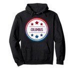 Columbus - Cool Retro City Badge Pullover Hoodie, T Shirt, Sweatshirt
