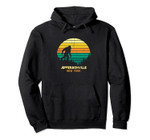 Retro Jeffersonville, New York Bigfoot Souvenir Pullover Hoodie, T Shirt, Sweatshirt