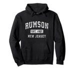 Rumson New Jersey NJ Vintage Established Sports Design Pullover Hoodie, T Shirt, Sweatshirt