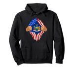 New York Roots Inside State Flag | American Proud Tee Pullover Hoodie, T Shirt, Sweatshirt