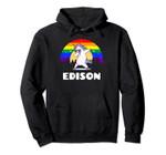 Edison New Jersey - LGBTQ Gay Pride Rainbow Pullover Hoodie, T Shirt, Sweatshirt