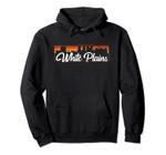 Vintage Style Retro White Plains New York Sunset Skyline Pullover Hoodie, T Shirt, Sweatshirt