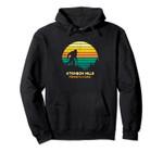 Retro Atkinson Mills, Pennsylvania Bigfoot Souvenir Pullover Hoodie, T Shirt, Sweatshirt