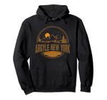 Vintage Argyle, New York Mountain Hiking Souvenir Print Pullover Hoodie, T Shirt, Sweatshirt