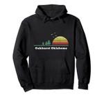 Vintage Oakhurst, Oklahoma Sunset Souvenir Print Pullover Hoodie, T Shirt, Sweatshirt