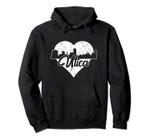 Retro Utica New York Skyline Heart Distressed Pullover Hoodie, T Shirt, Sweatshirt