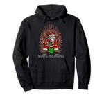 Santa Claus Candy Cane Throne Funny Parody Christmas Hoodie, T Shirt, Sweatshirt