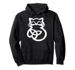 White Trinity Knot Celtic Cat Hoodie, T Shirt, Sweatshirt
