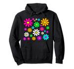 Happy Bright Daisies Daisy 60's 70s Retro Vintage Hippie Pullover Hoodie, T Shirt, Sweatshirt