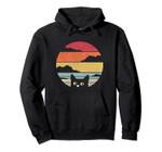 Cat, Retro Kitten Pullover Hoodie, T Shirt, Sweatshirt