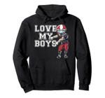 Love My Boys Mom Grandma Red Football Team Gifts Pullover Hoodie, T Shirt, Sweatshirt
