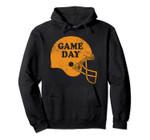 Game Day Football Orange Helmet Pullover Hoodie, T Shirt, Sweatshirt