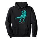 Dinosaur Hockey Stick Puck Halloween Kid Trex Ice Player Boy Pullover Hoodie, T Shirt, Sweatshirt