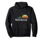 Vintage Maili, Hawaii Sunset Souvenir Print Pullover Hoodie, T Shirt, Sweatshirt