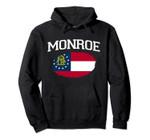 MONROE GA GEORGIA Flag Vintage USA Sports Men Women Pullover Hoodie, T Shirt, Sweatshirt