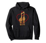 Giraffe Love Kissing Giraffes Valentine's Day Kiss Heart Pullover Hoodie, T Shirt, Sweatshirt