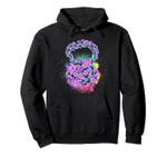 Watercolor Flower Kettlebell - Pretty Strong! Purple Splash Pullover Hoodie, T Shirt, Sweatshirt