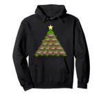 Holiday Football Christmas Tree Star Pullover Hoodie, T Shirt, Sweatshirt
