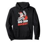 Ho Ho Ho Hockey Pucks Santa Hats Hockey Player Christmas Pullover Hoodie, T Shirt, Sweatshirt