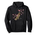 Dog Bite Rose Flower Rain Cute Animal Christmas Gift Idea Pullover Hoodie, T Shirt, Sweatshirt