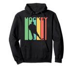 Retro 1970's Style Hockey Player Sports Hoodie, T Shirt, Sweatshirt