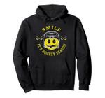 Retro Vintage Smile It's Hockey Season - Hockey Pullover Hoodie, T Shirt, Sweatshirt