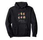 Vintage Botanical Floral Flower Pullover Hoodie, T Shirt, Sweatshirt