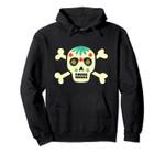 Skull Flowers Crossbones Costume Gift Pullover Hoodie, T Shirt, Sweatshirt