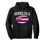 HONOLULU HI HAWAII Flag Vintage USA Sports Men Women Pullover Hoodie, T Shirt, Sweatshirt